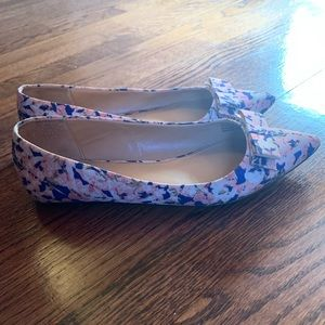 J. Crew pink and blue flats